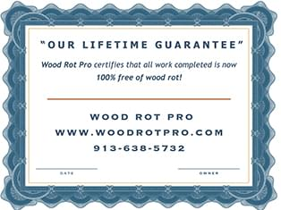 Wood Rot Pro certificate